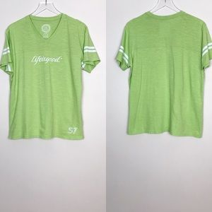 Life is Good Green Athletic Style T Shirt Size L